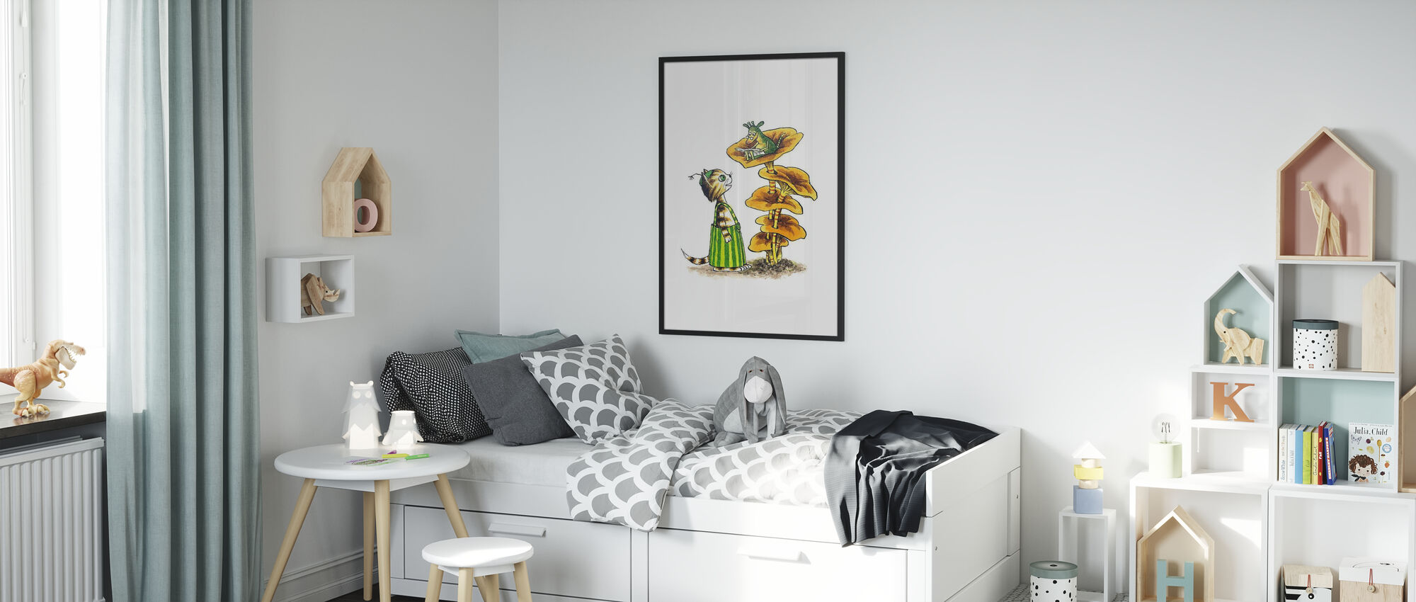 Pettson and Findus - Findus and Mucklan - Poster - Kids Room