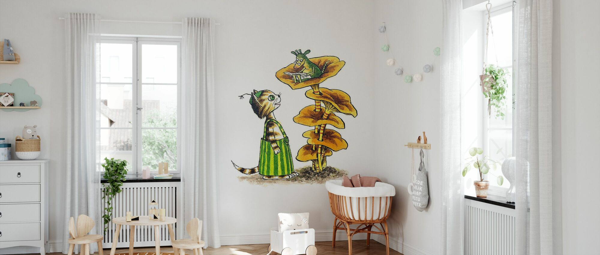 Pettson and Findus - Findus and Mucklan - Wallpaper - Nursery
