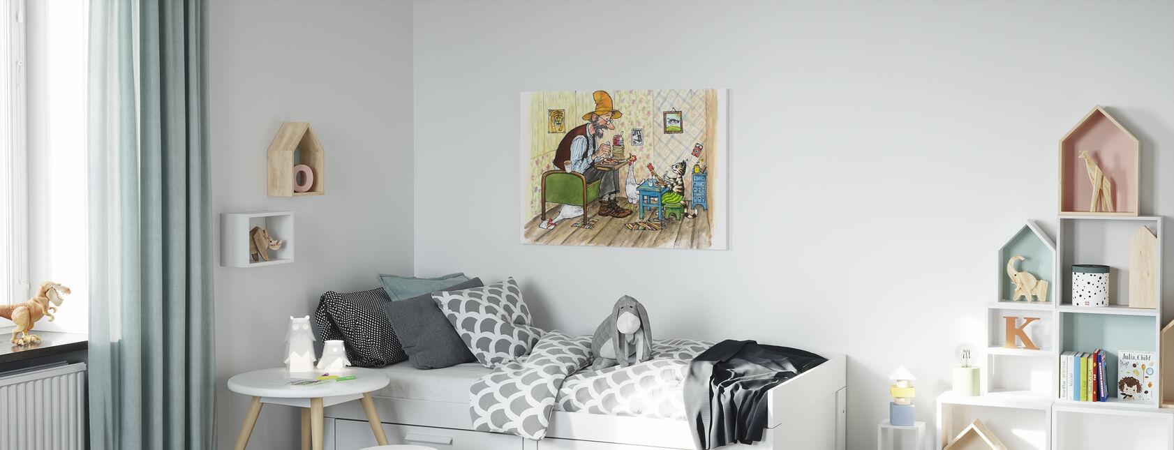 Pettson og Findus - Findus flytter ut - Lerretsbilde - Barnerom