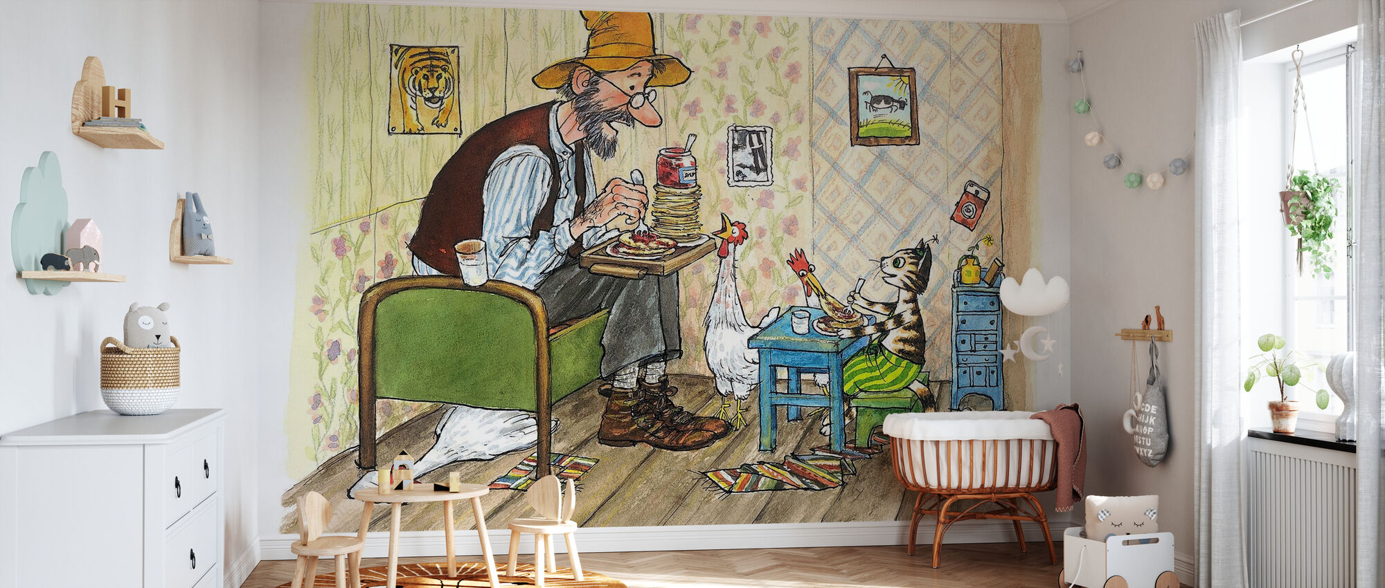 Pettson and Findus - Findus moving out - Wallpaper - Nursery