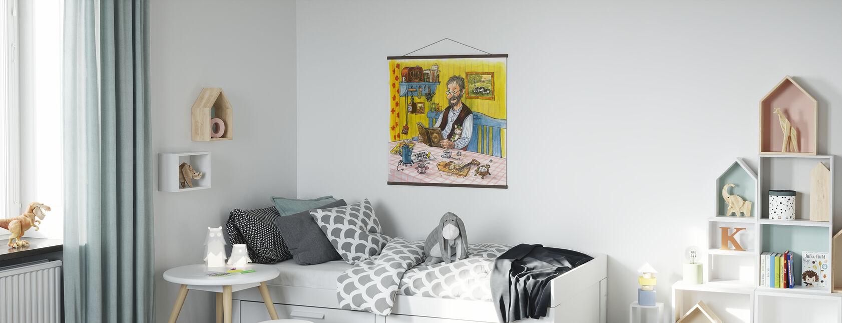 Pettson en Findus - Findus verhuizen - Sprookjesgeluid - Poster - Kinderkamer