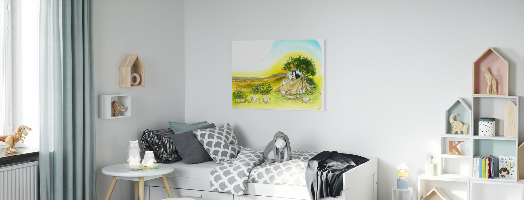 Pettson en Findus - Pettson Tenten 1 - Canvas print - Kinderkamer