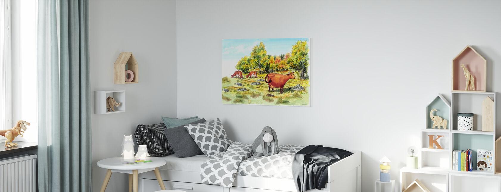 Maman Mu & Corbeau -Maman Mu - Impression sur toile - Chambre des enfants
