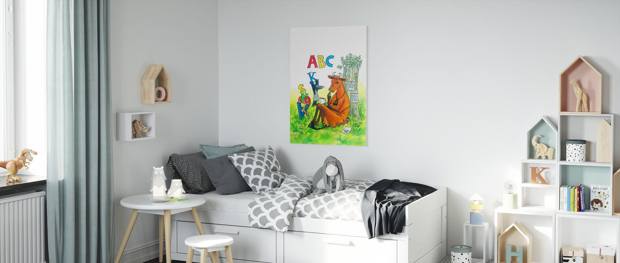 Mom Mu & Crow - Mom Mu ABC - Canvas print - Kids Room