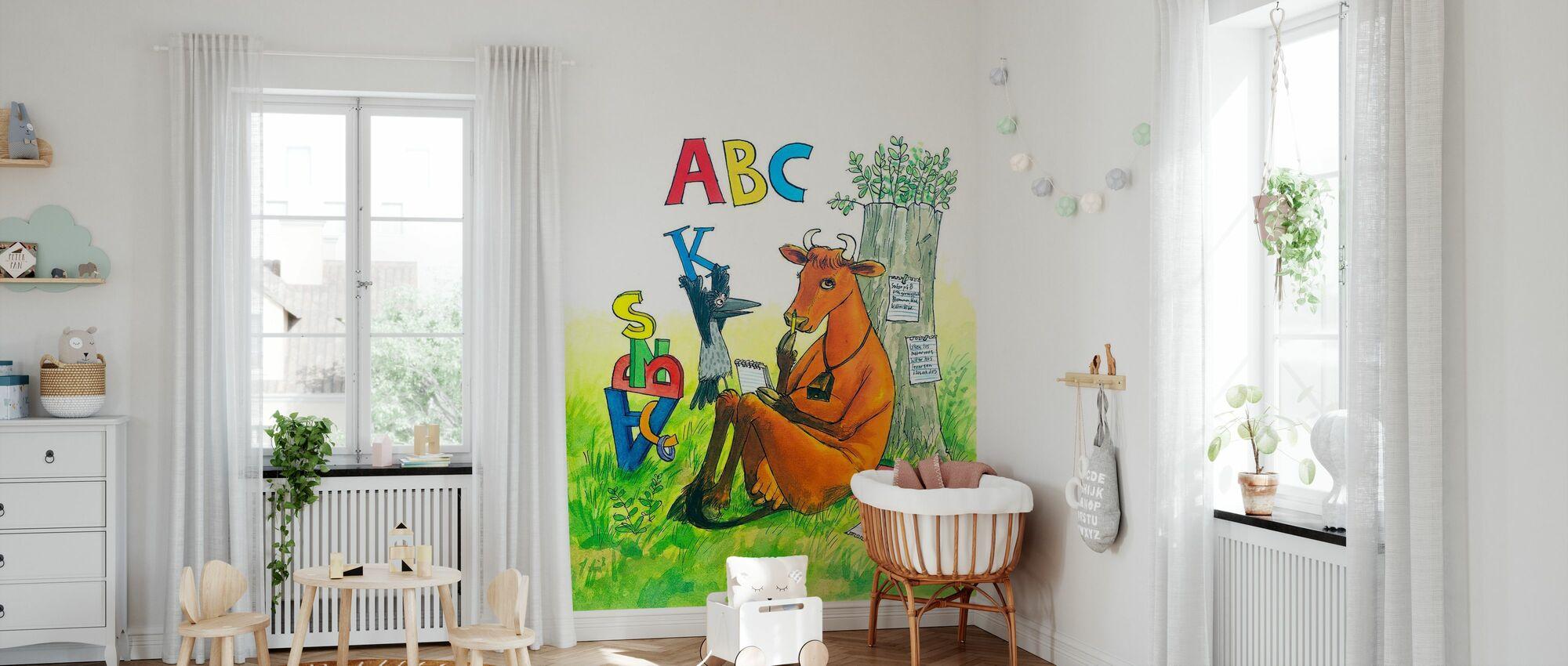 Äiti Mu & Varis - Äiti Mu ABC - Tapetti - Vauvan huone