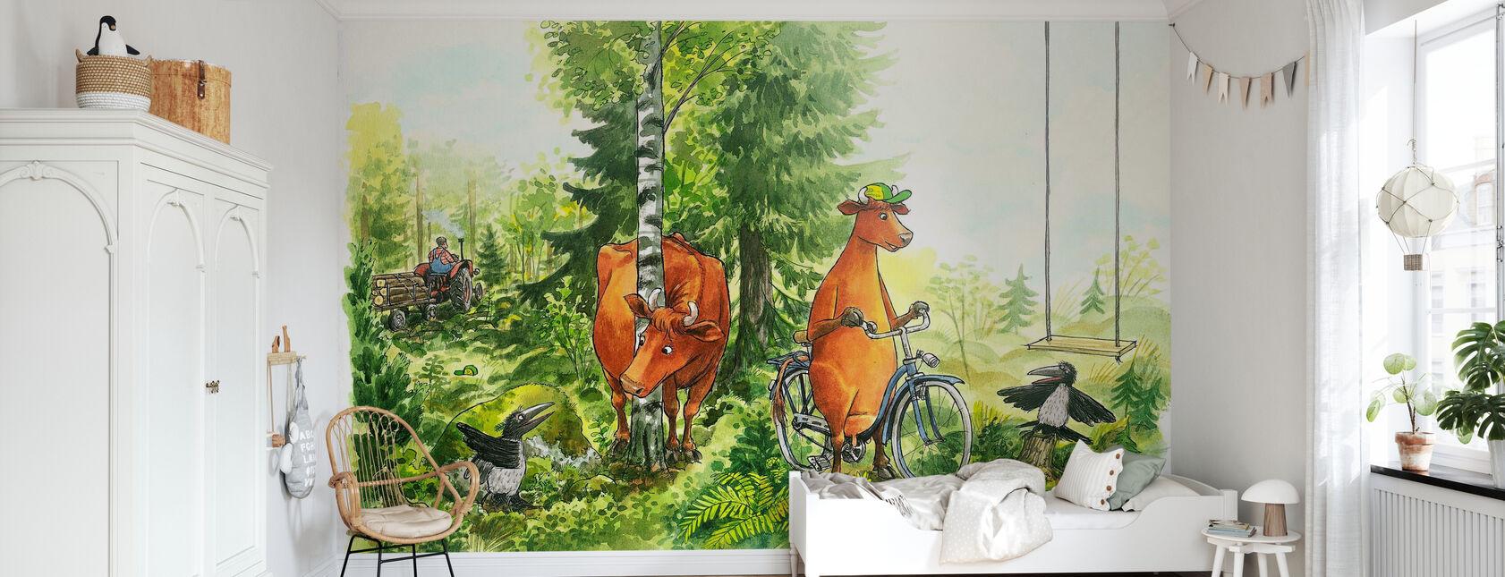 Äiti Mu & Crow - Mitä tietää lehmän - Tapetti - Lastenhuone