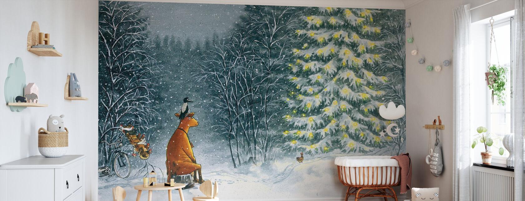 Mamma Mu & kråke - mamma Mu & kråke jul - Tapet - Babyrom