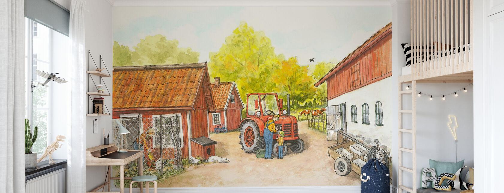 Mom Mu & Crow - The Farm - Wallpaper - Kids Room