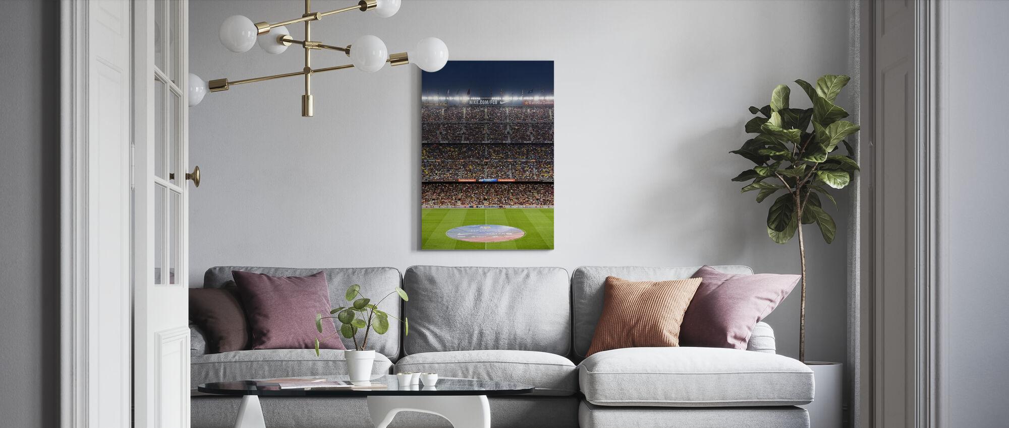 Fodboldstadion - Billede på lærred - Stue