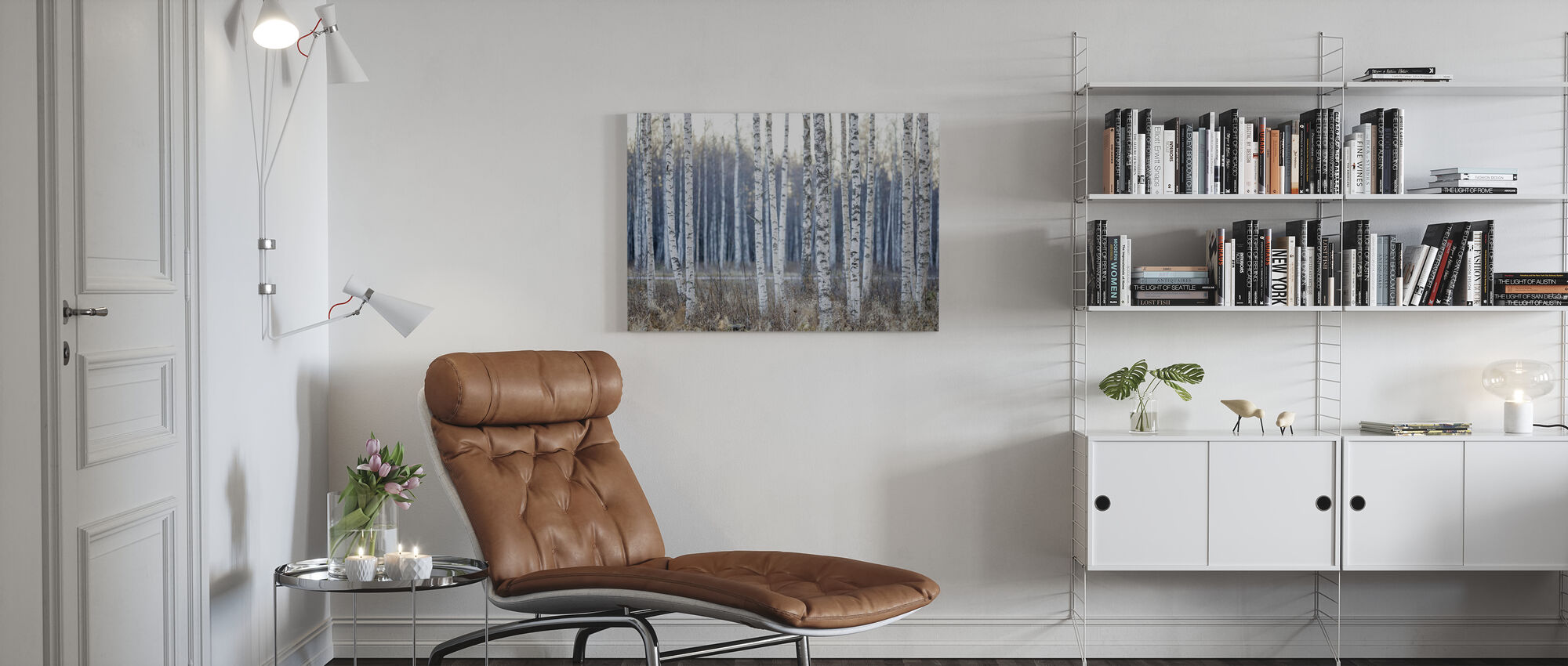 Birch Tree - Canvas print - Living Room