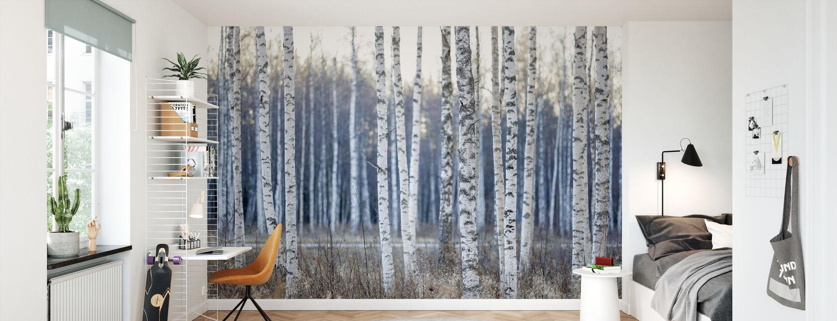 Birch Tree - Wallpaper - Kids Room