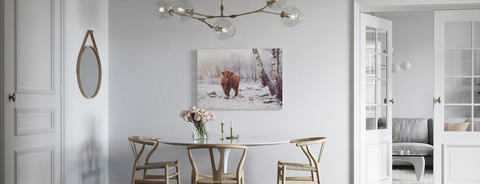 Highland Runderen - Canvas print - Keuken