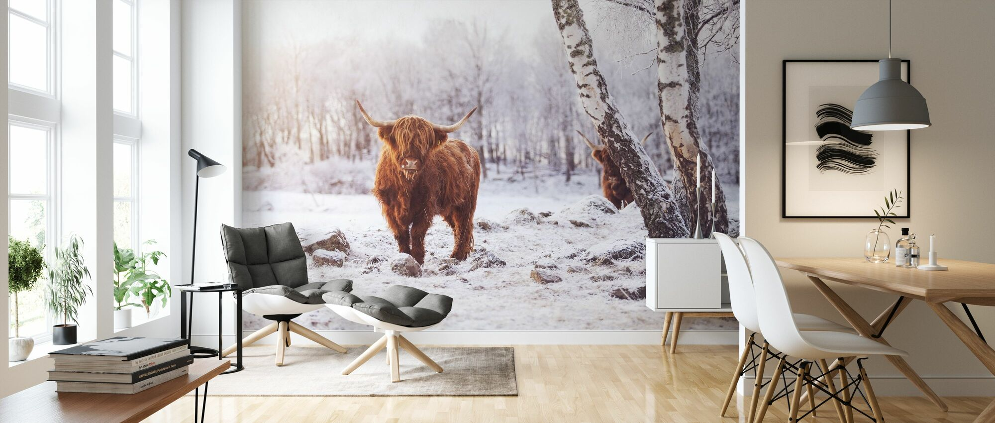 Highland Cattle - Wallpaper - Living Room