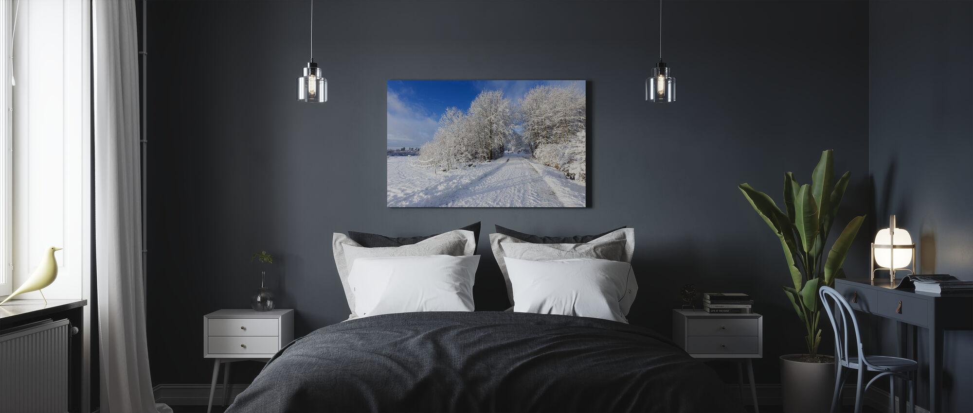 Uppland Road - Canvas print - Bedroom