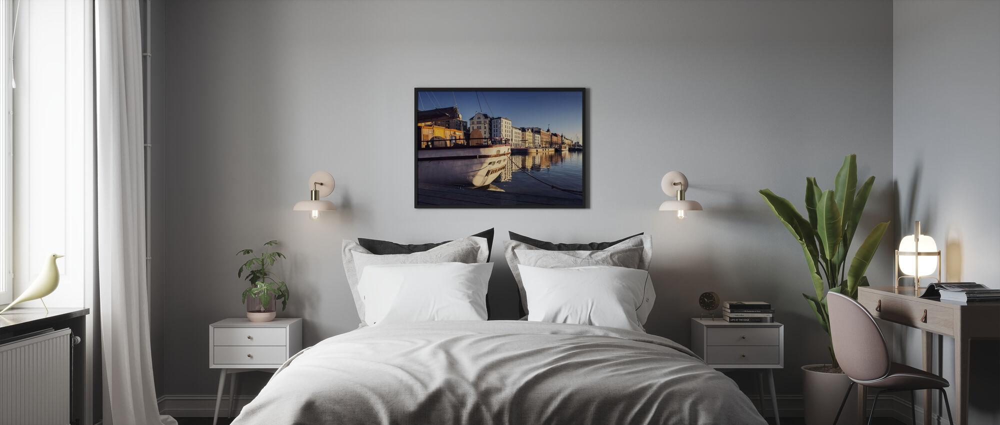 Vanha satama - Kehystetty kuva - Makuuhuone