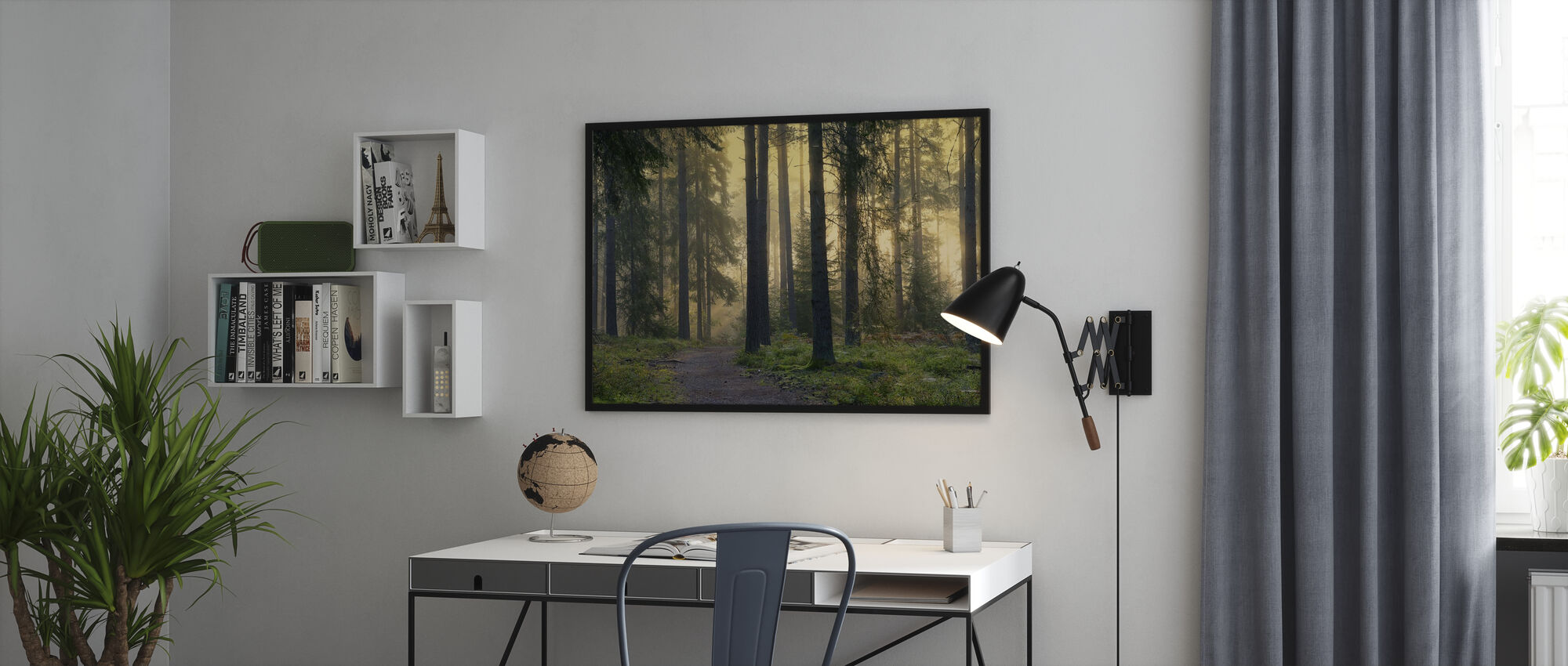 Skogs gångväg - Poster - Kontor