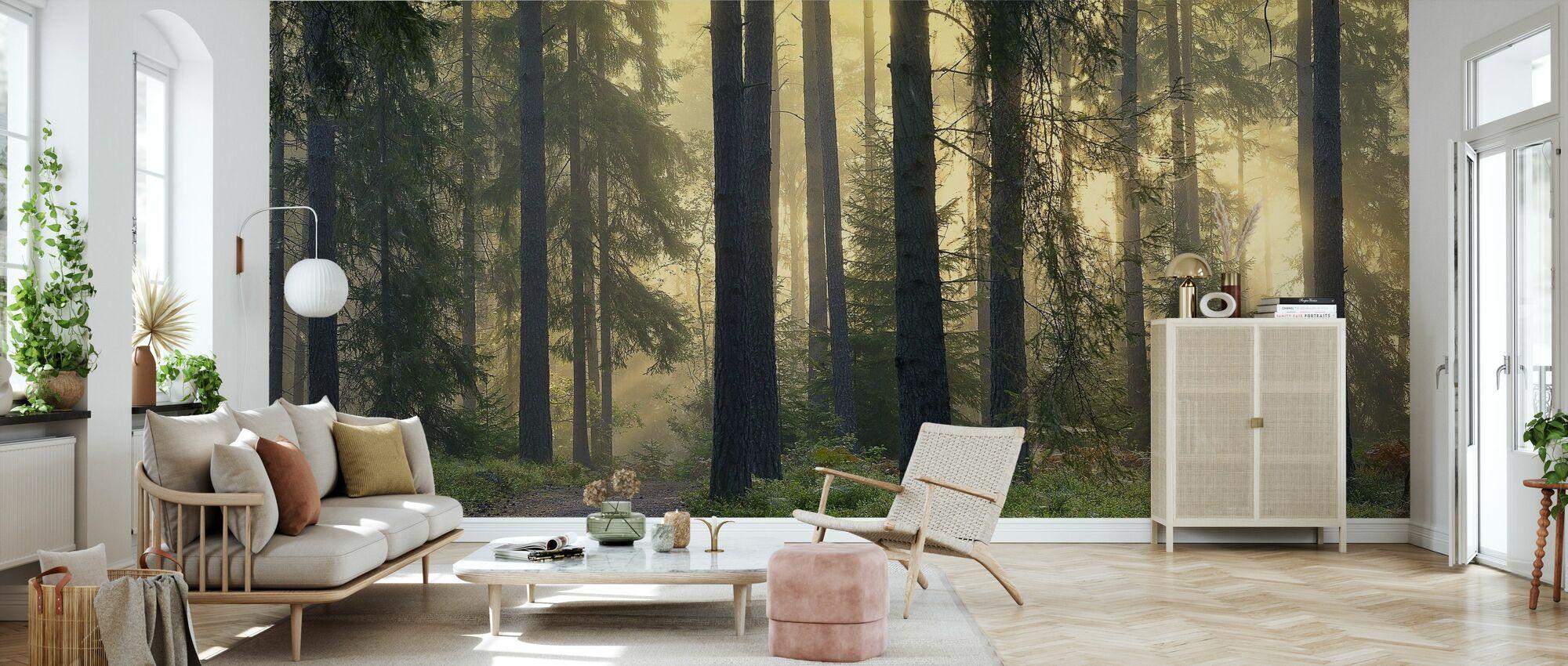 Skogs gångväg - Tapet - Vardagsrum