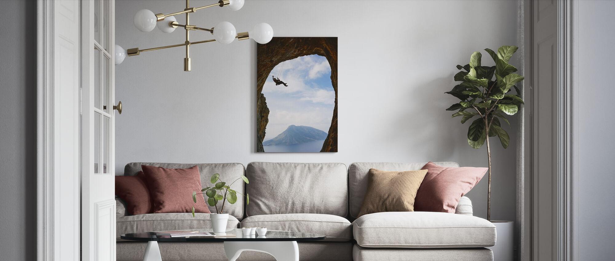 Mountain Climbing - Canvas print - Living Room