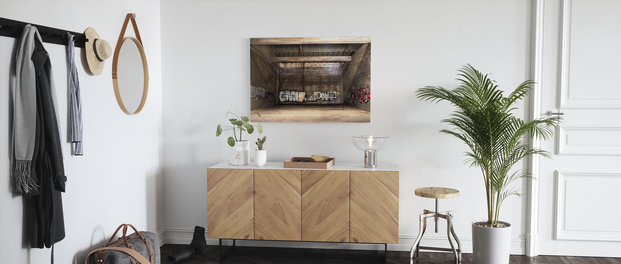 Old Warehouse - Canvas print - Hallway