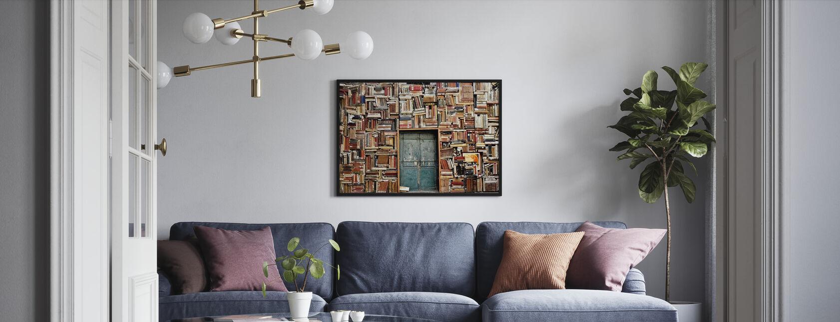 Dør og bøker - Plakat - Stue