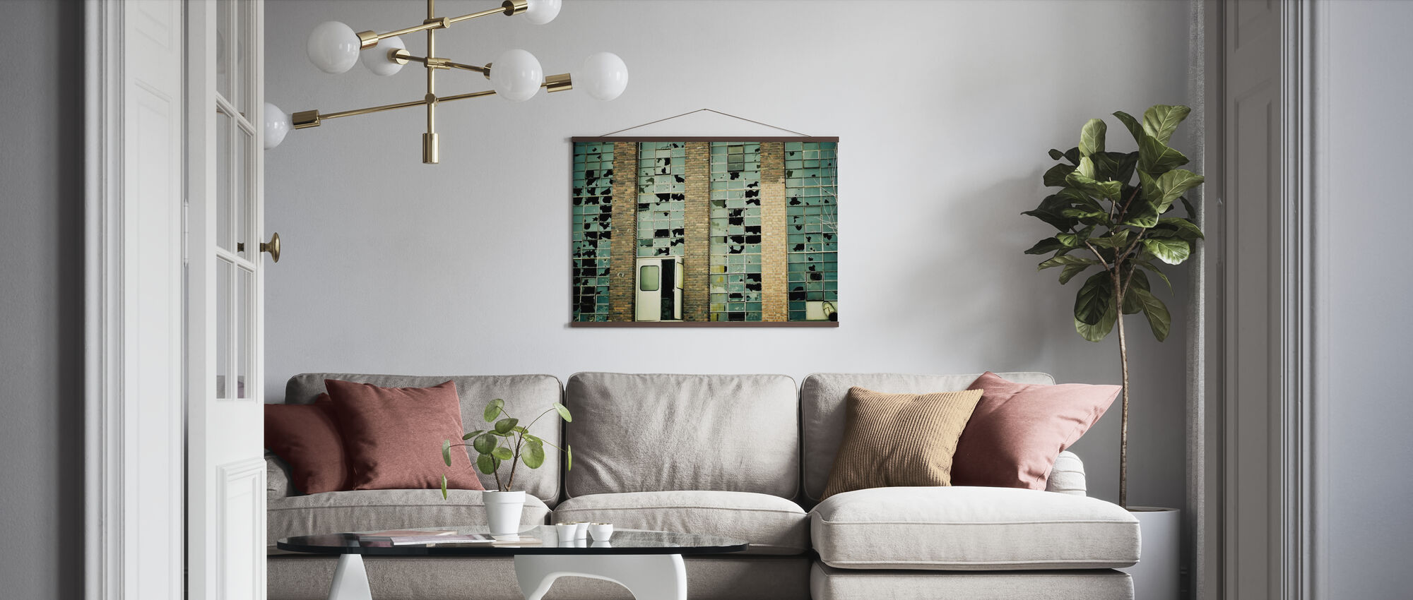 Broken Factory Glasses - Poster - Living Room