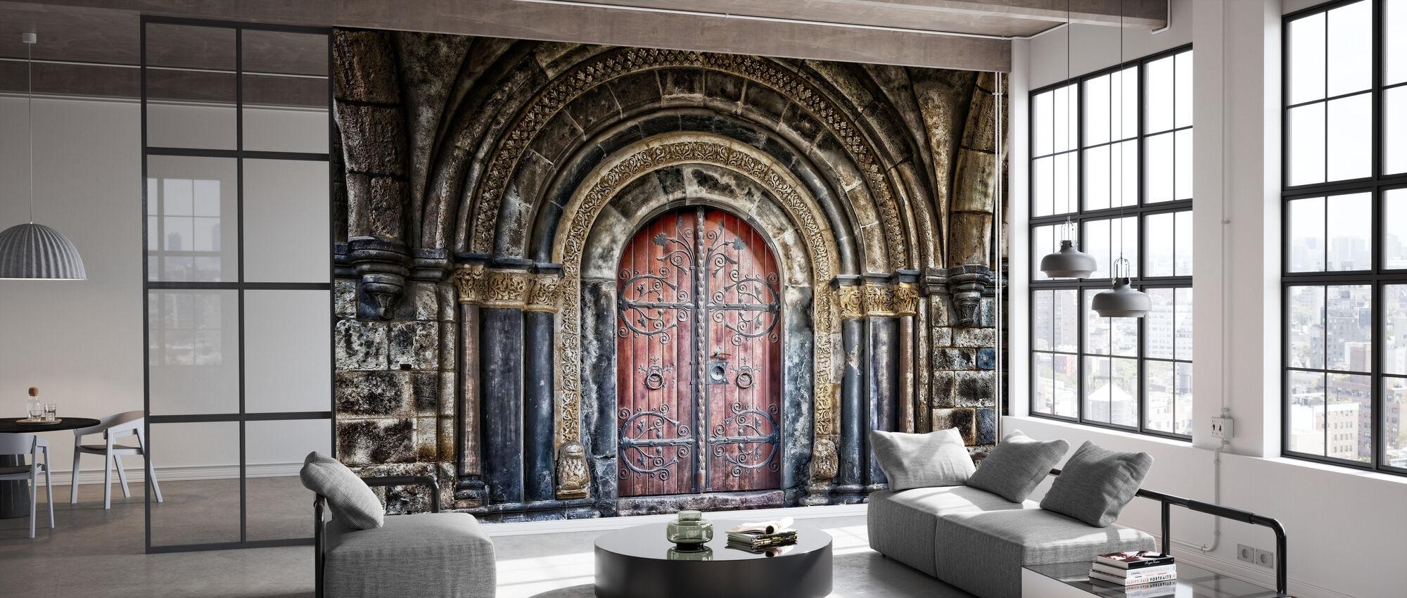 Old Monastery Door - Wallpaper - Office