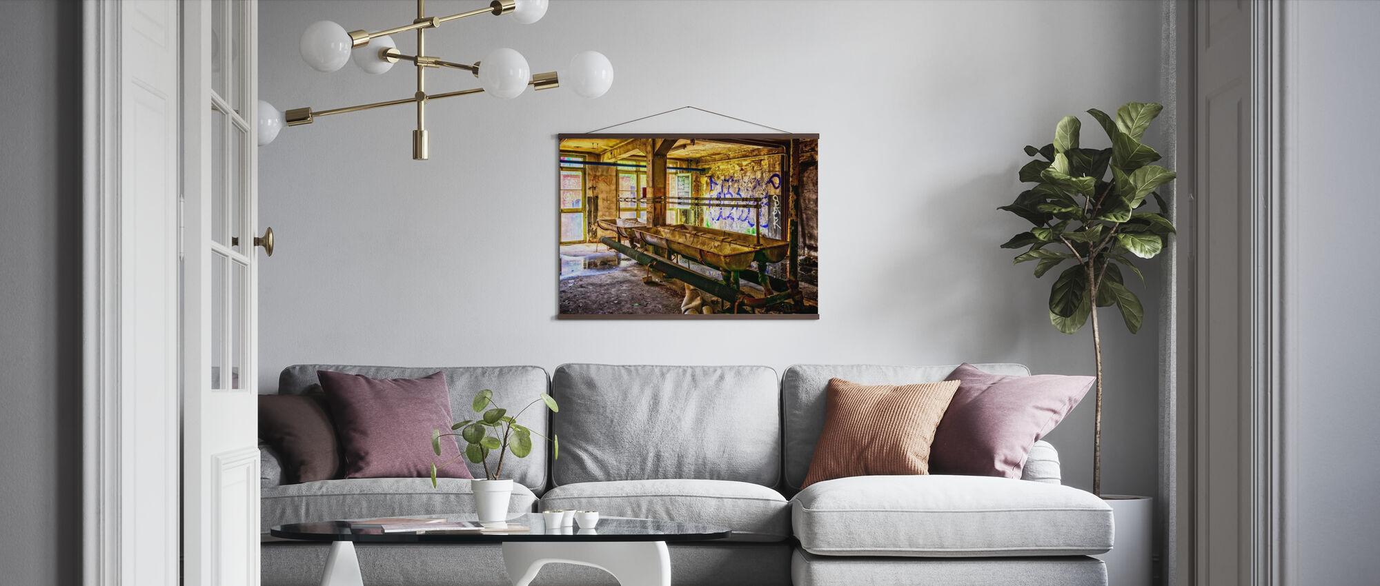 Old Washroom - Poster - Living Room