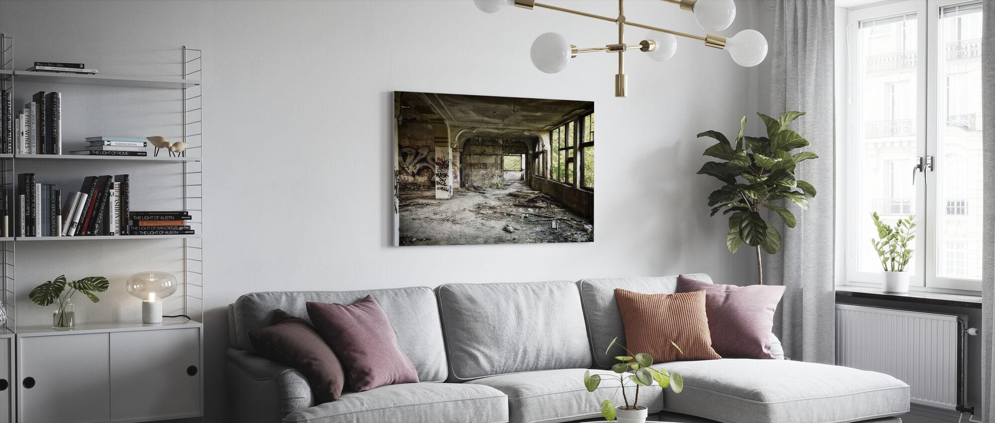 Ruined Villa - Canvas print - Living Room