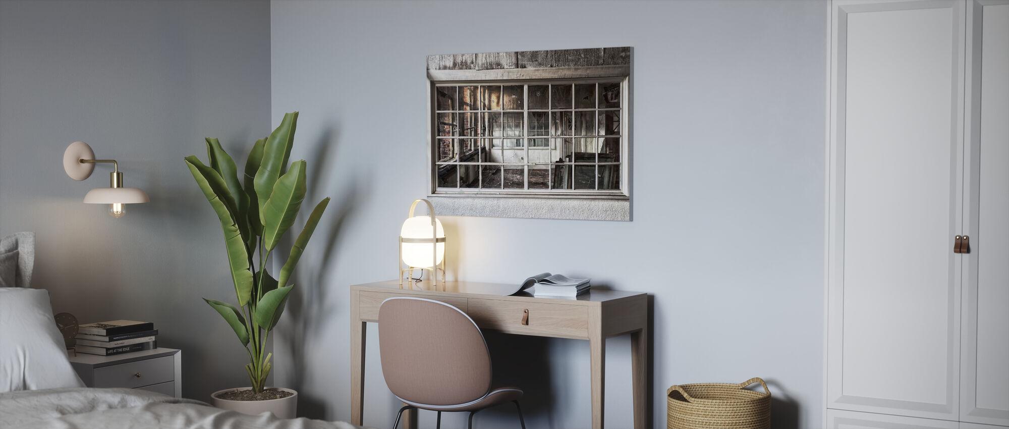 Zerbrochenes altes Fenster - Leinwandbild - Büro