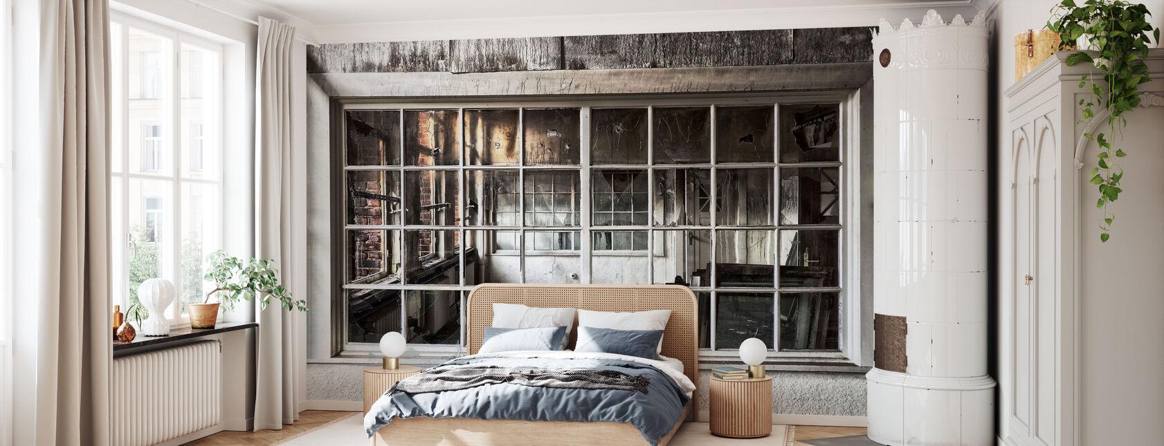Zerbrochenes altes Fenster - Tapete - Schlafzimmer