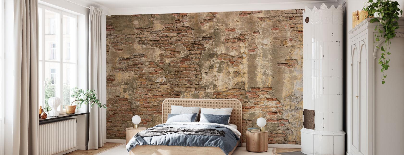 Gamle sten Mur - Tapet - Soveværelse