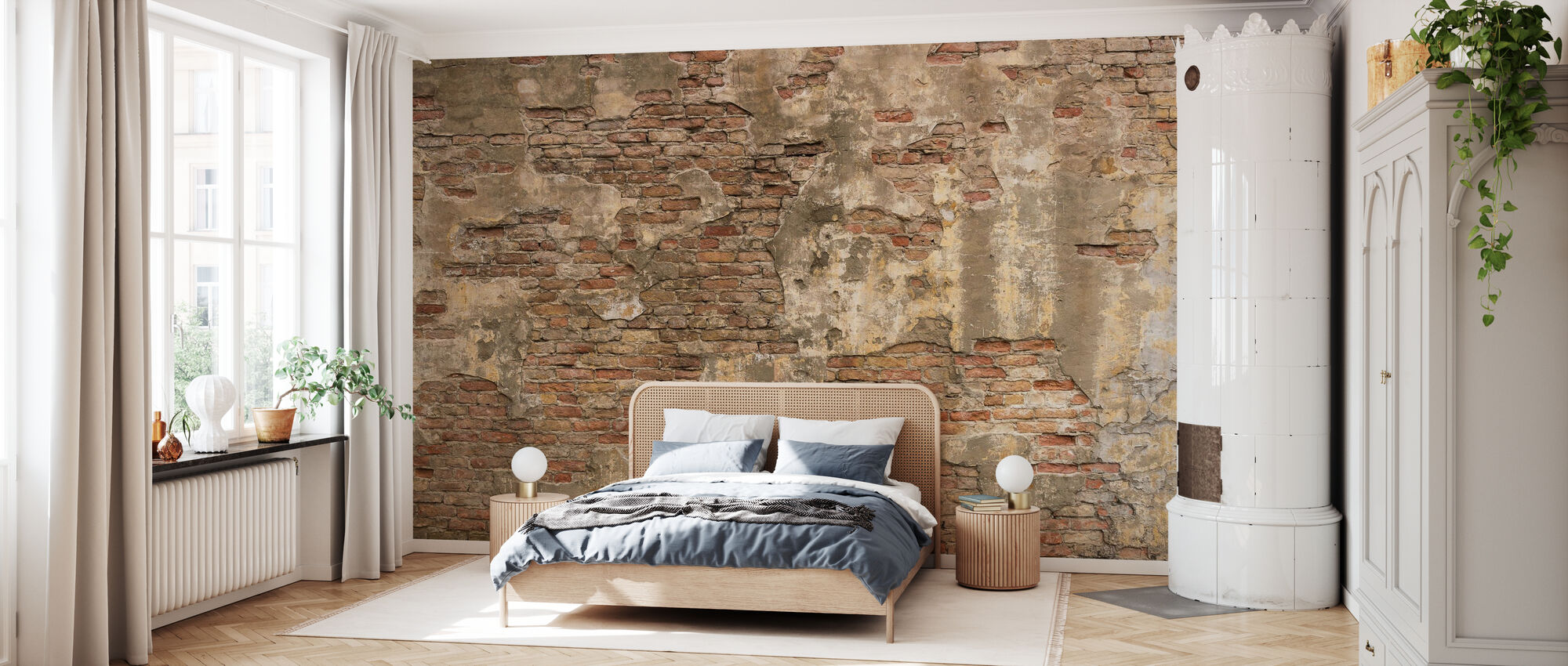 Old Stone Wall - Wallpaper - Bedroom