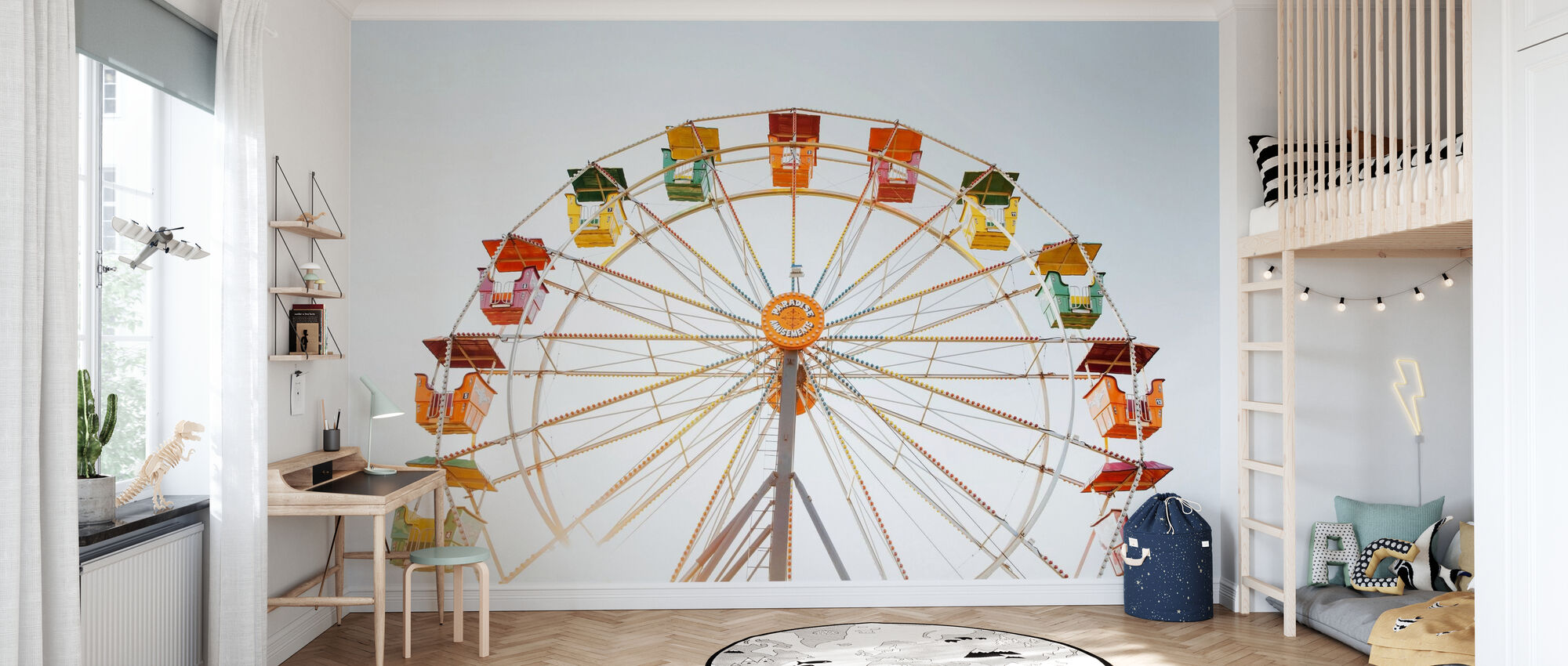 Parque de atracciones Noria - Papel pintado - Cuarto de niños
