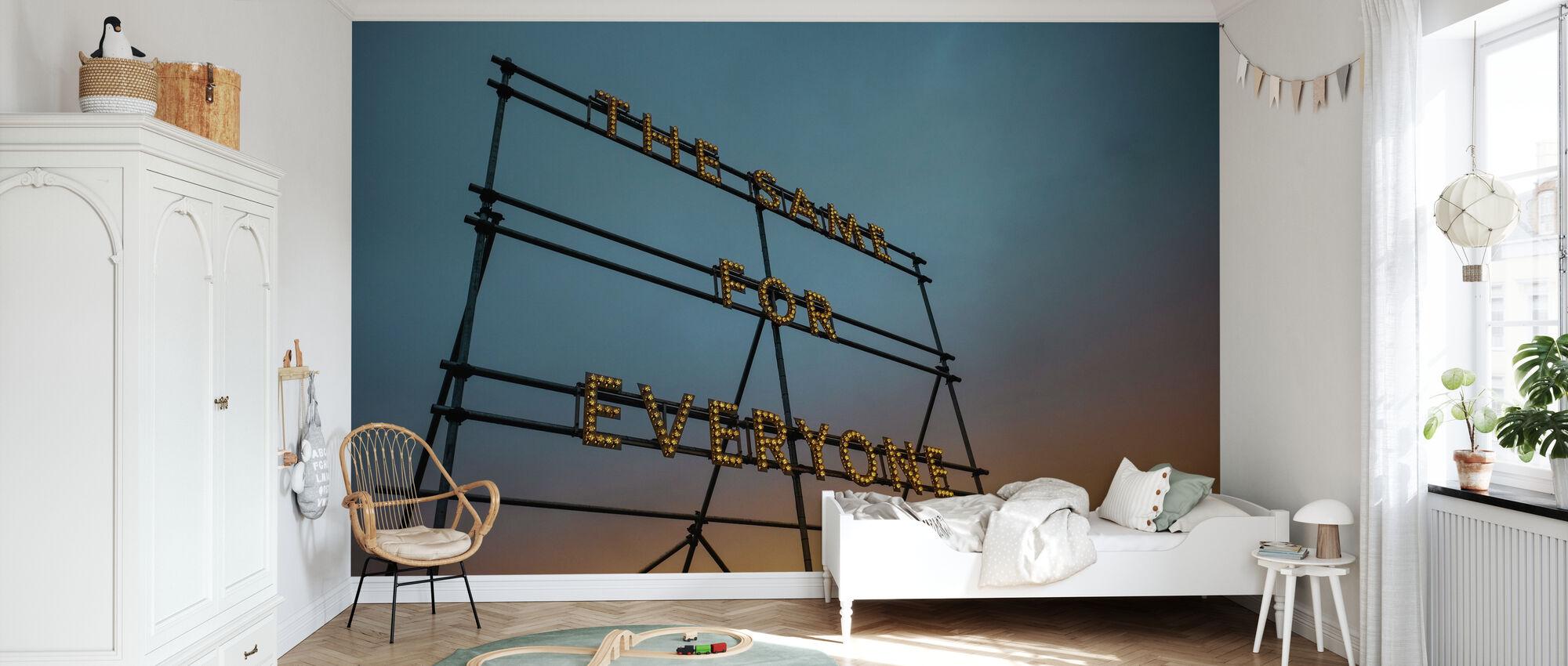 Typografie Art Lights - Behang - Kinderkamer