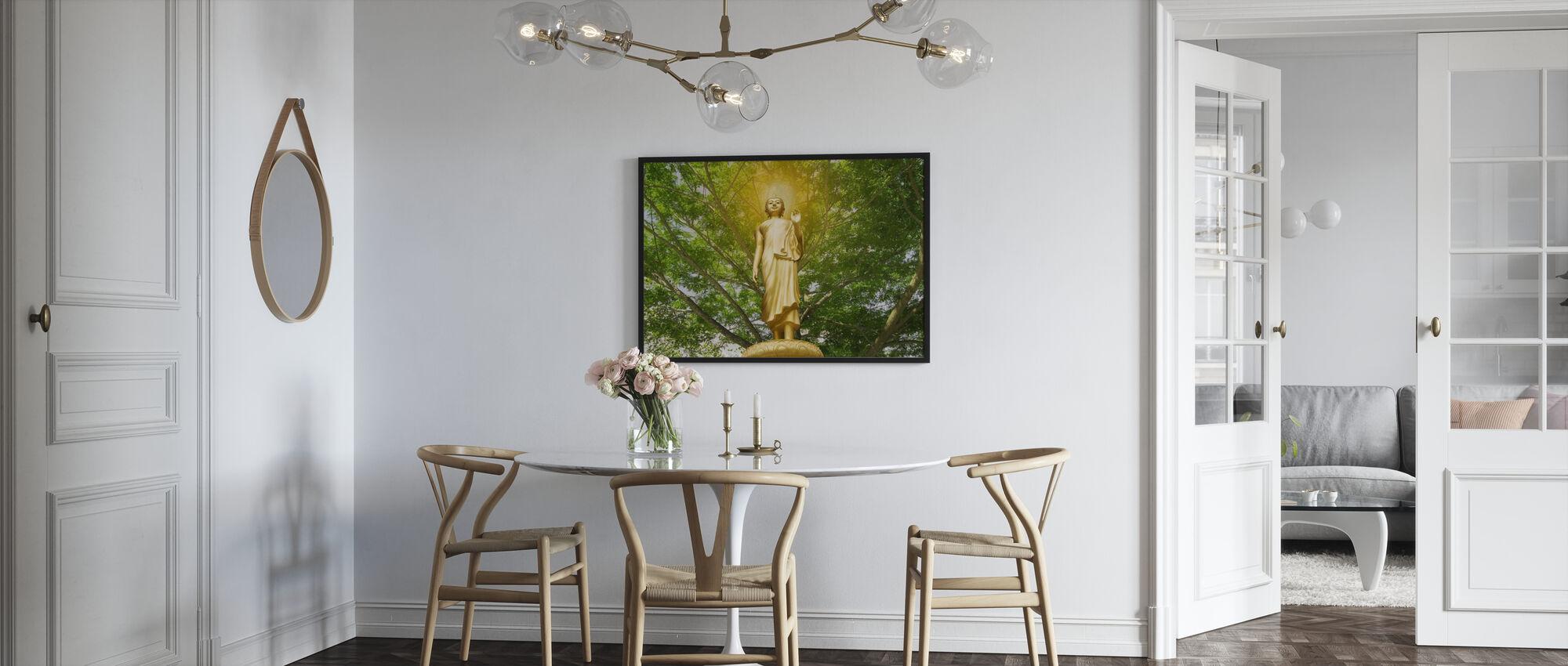Standbeeld van Boeddha - Ingelijste print - Keuken