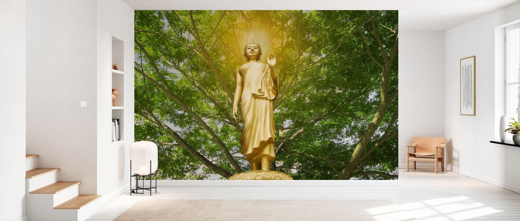 Statue of Buddha - Wallpaper - Hallway