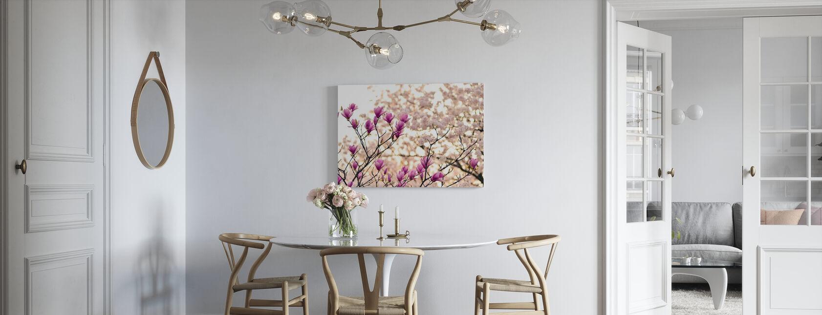 Magnolia Blommor - Canvastavla - Kök