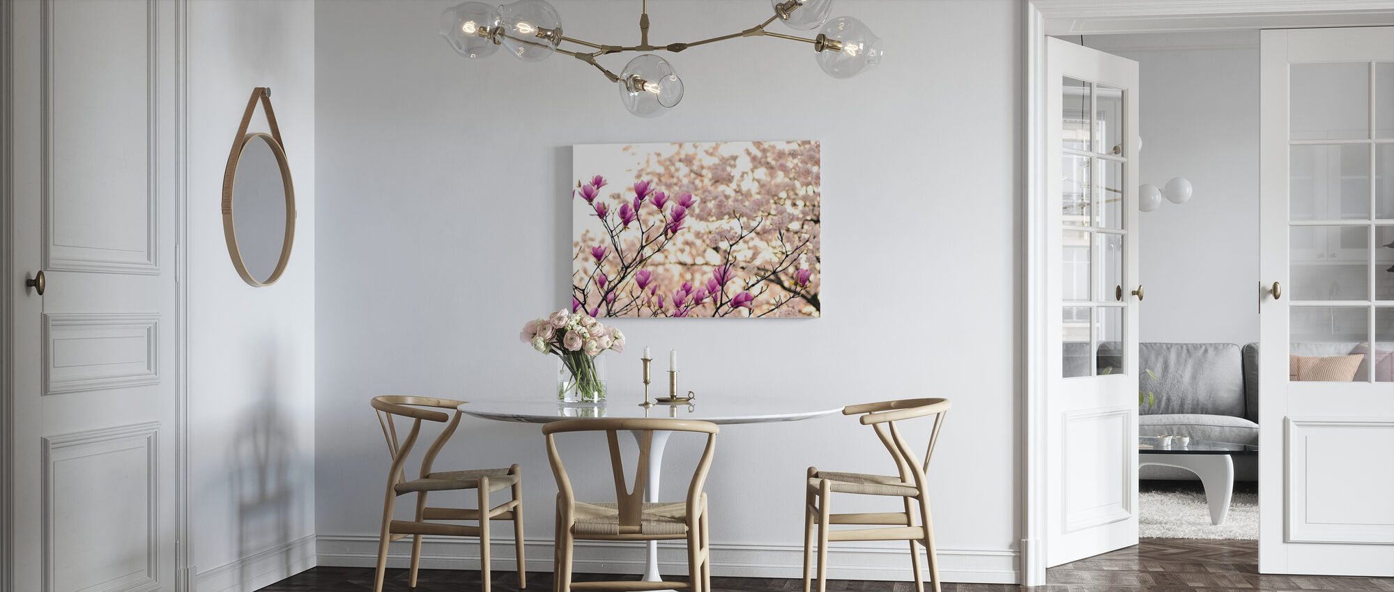Magnolia Flowers - Canvas print - Kitchen