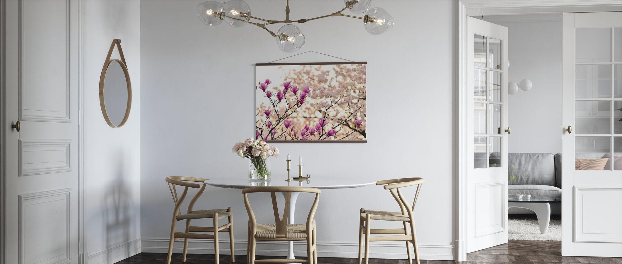 Magnolia Blommor - Poster - Kök