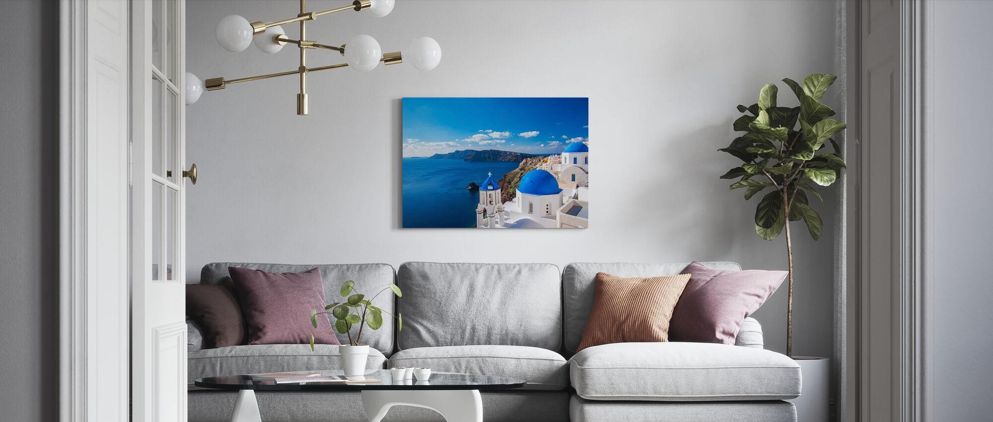 Santorini Church - Canvas print - Living Room