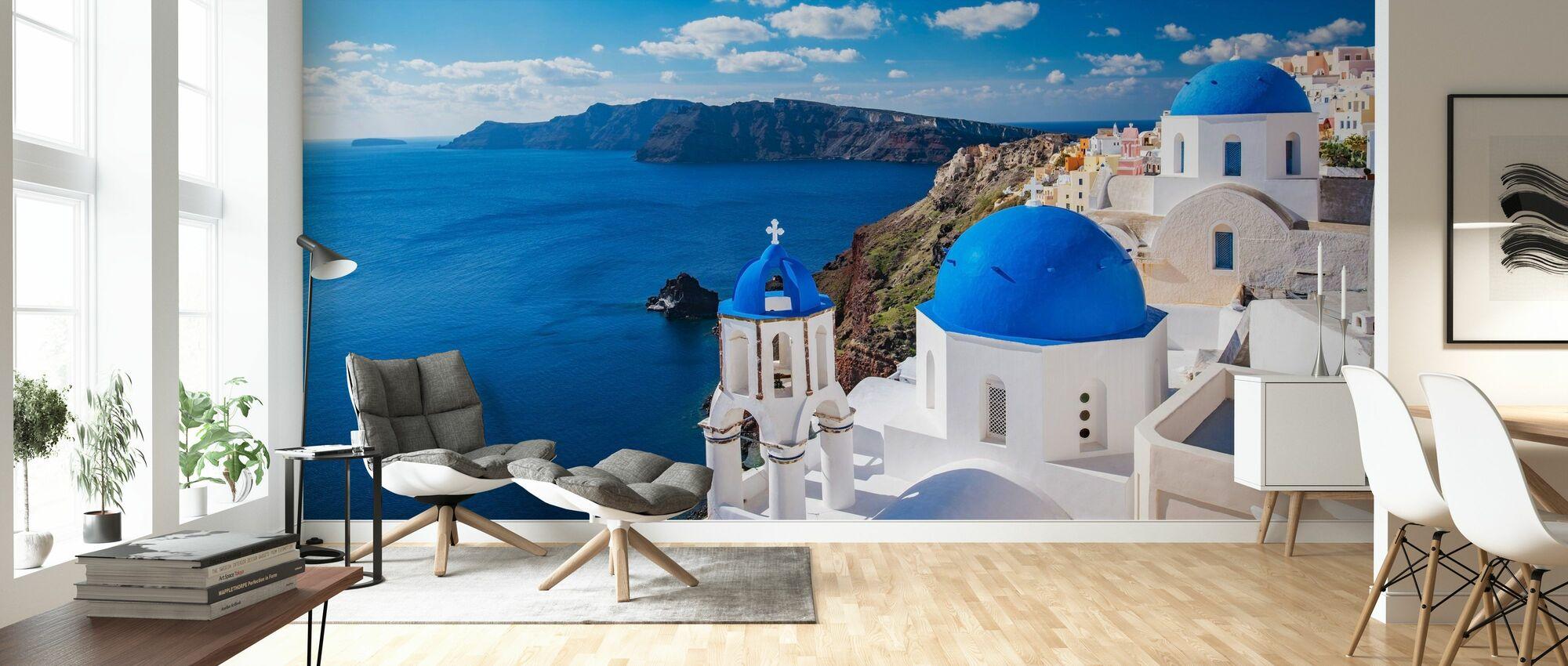 Santorini Church - Wallpaper - Living Room
