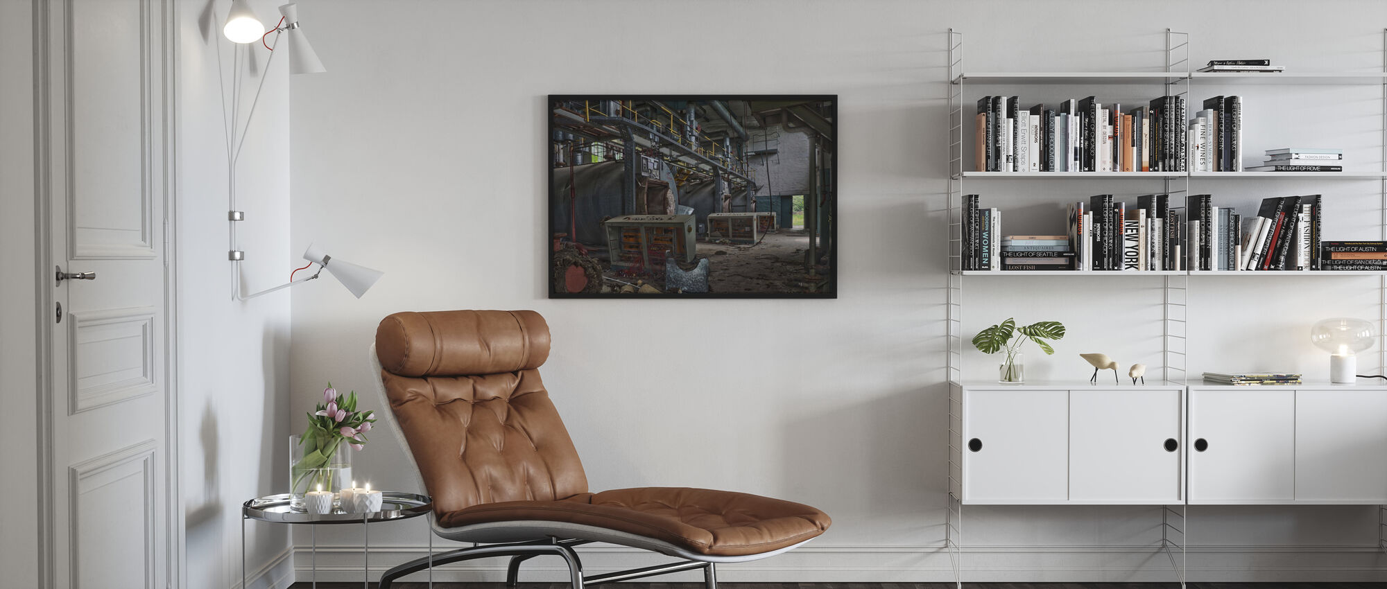 Abandoned Boiler Room - Framed print - Living Room