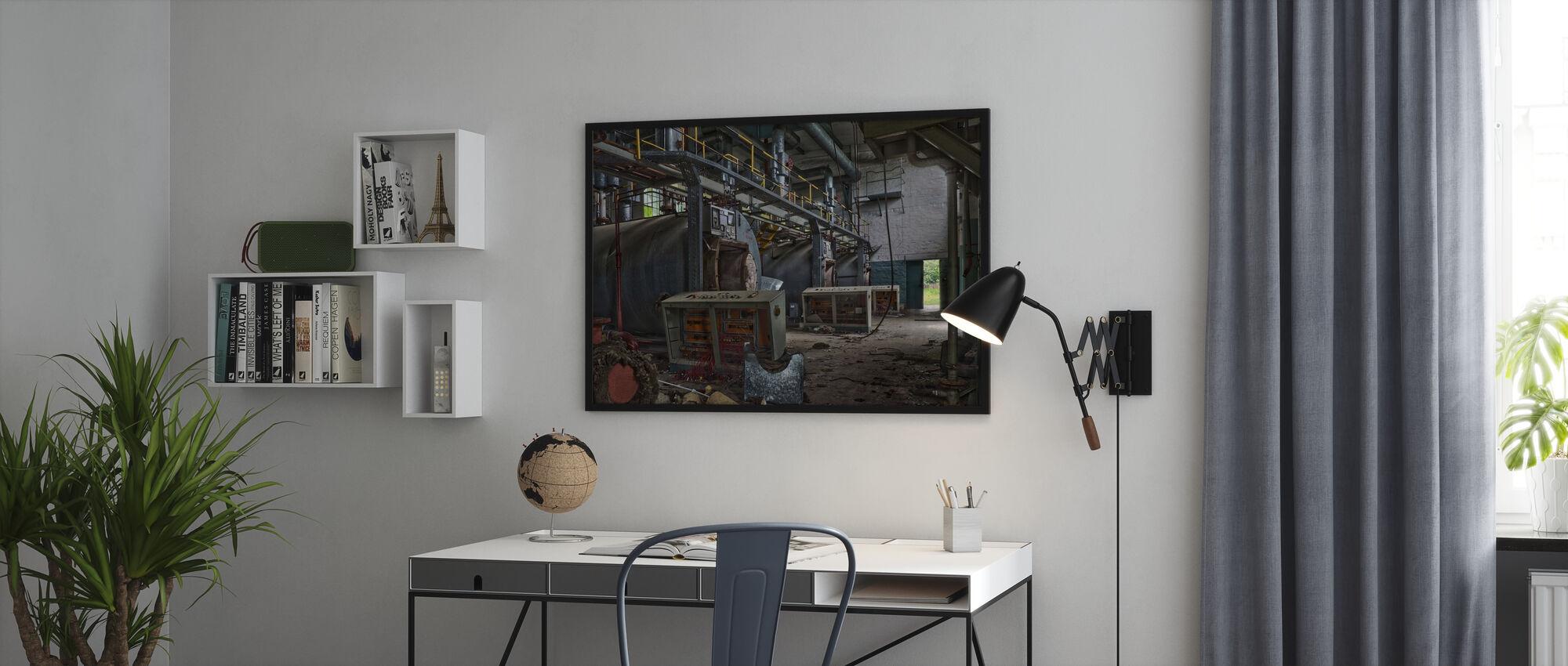 Abandoned Boiler Room - Framed print - Office