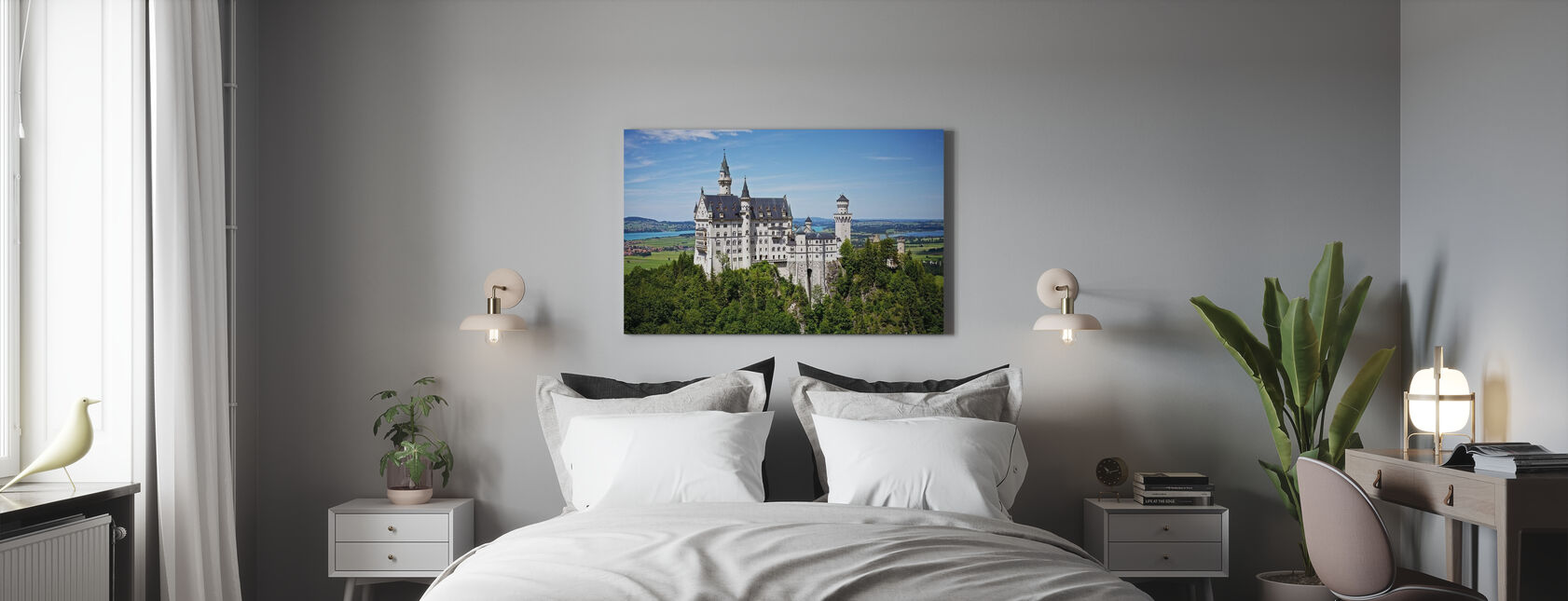 Neuschwanstein Disney Castle - Canvas print - Bedroom