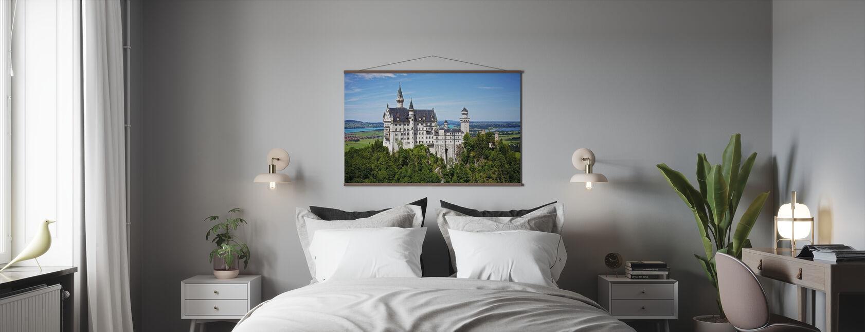 Schloss Neuschwanstein Disney - Poster - Schlafzimmer