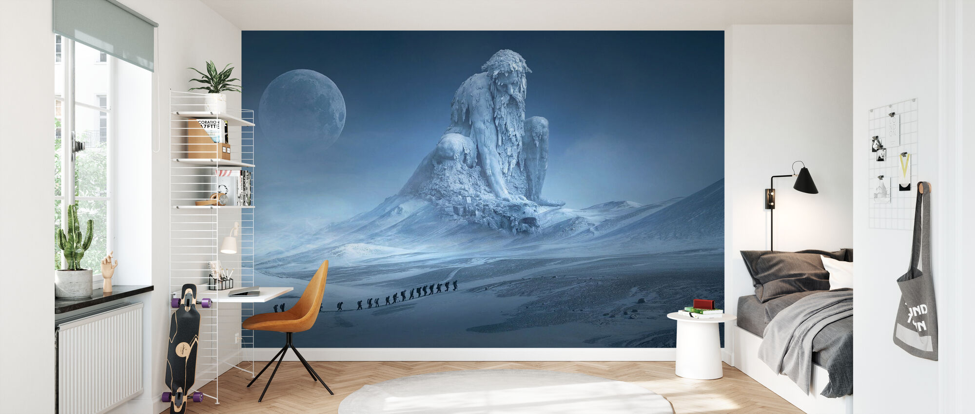 Fantasy Snow Landscape - Wallpaper - Kids Room
