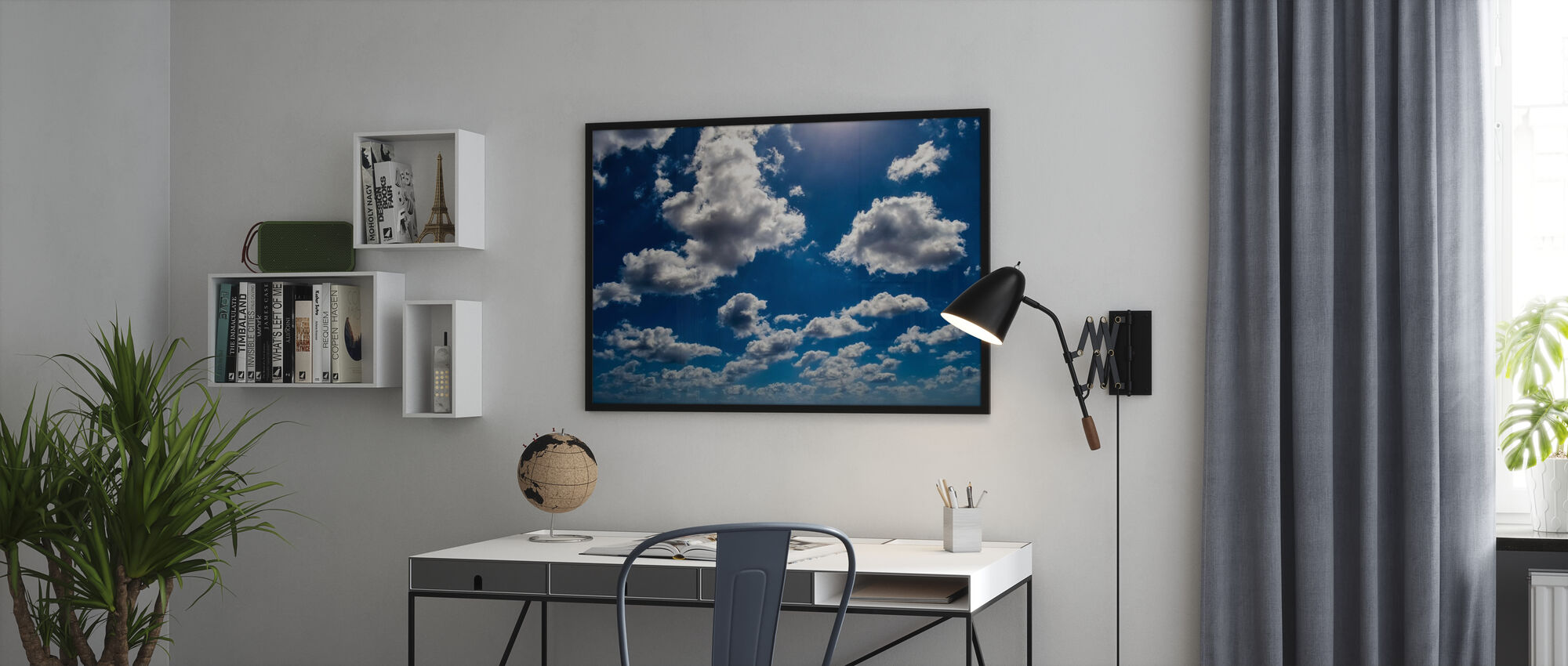 Blue Sky Clouds - Poster - Office