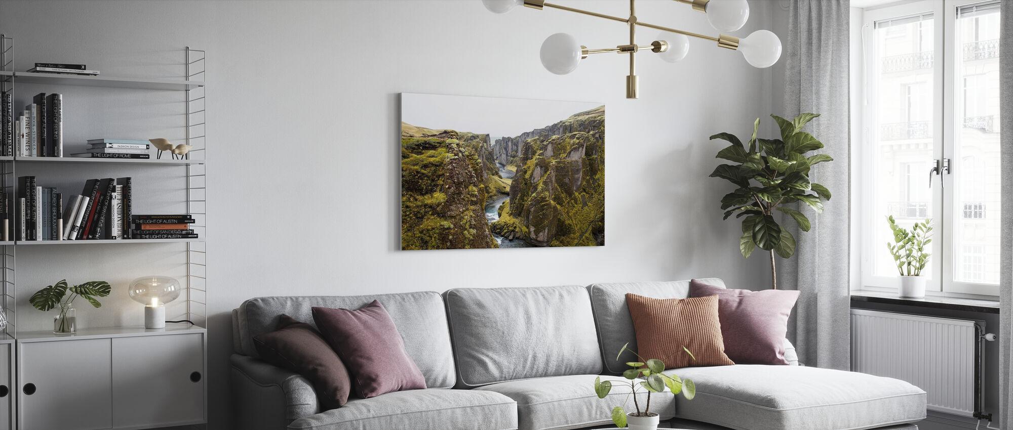 Spaccatura del Canyon - Stampa su tela - Salotto