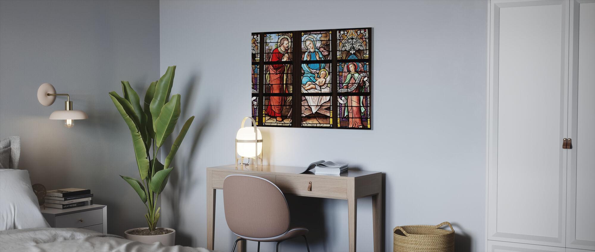 Kirkens vindu - Lerretsbilde - Kontor