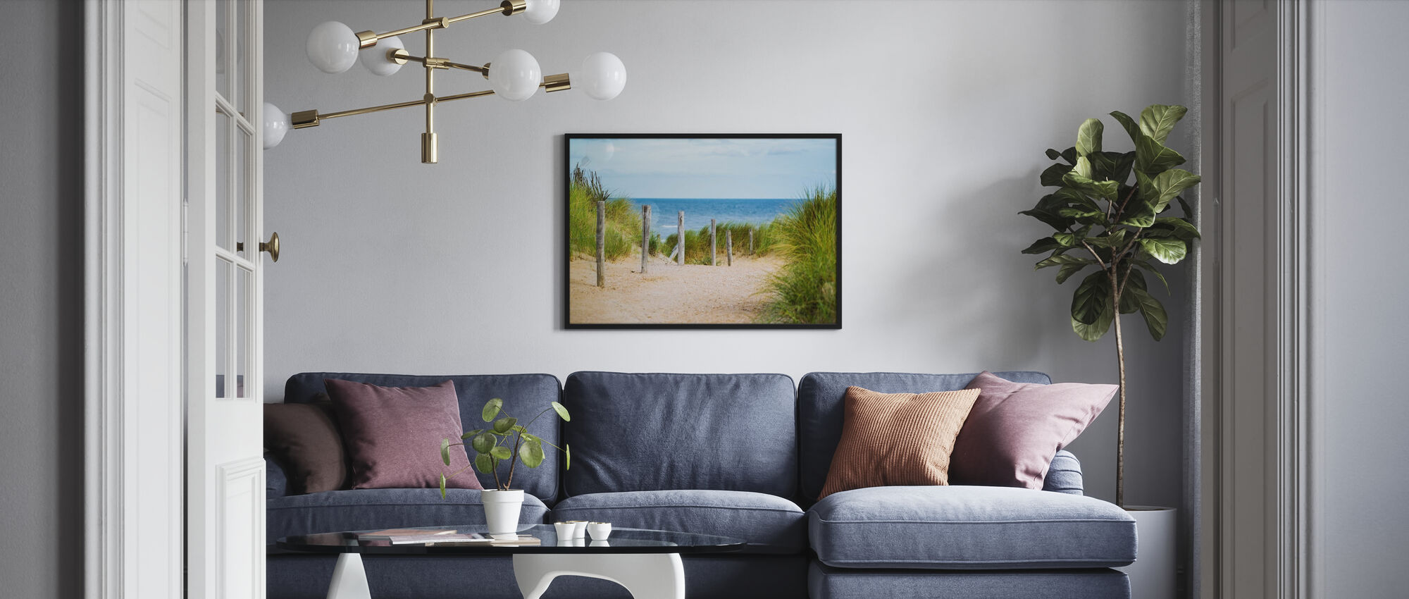 Beach Fence - Poster - Living Room